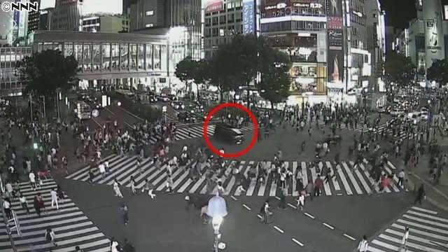 渋谷スクランブル交差点の車暴走 道交法違反容疑で50代男逮捕 「免停になって仕事できなくなると思った」