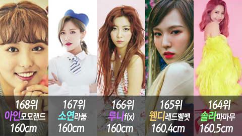 総勢193人、K-POP女性アイドル の身長順ランキング - デバク