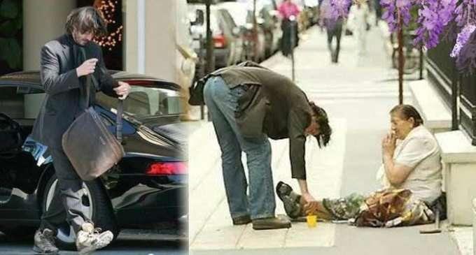 大半の財を寄付し、身なりを構わないハリウッドスターは誰?