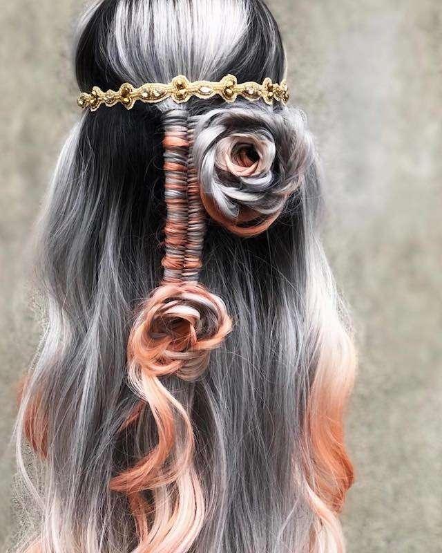 お姫様みたい! バラが咲いたようなヘアアレンジが豪華でステキ