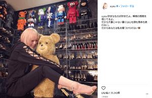 浜崎あゆみ、SNSに投稿した写真のバックにうつり込む大量のベアブリックと靴に注目が集まる(1ページ目) - デイリーニュースオンライン