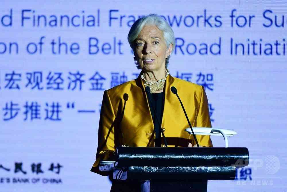 一帯一路、「問題ある債務増加」課す可能性 IMF専務理事 写真1枚 国際ニュース:AFPBB News