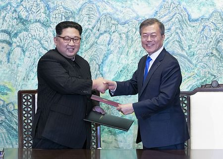 朝鮮半島を完全非核化=年内に終戦宣言-金正恩氏、初訪韓・南北首脳会談:時事ドットコム