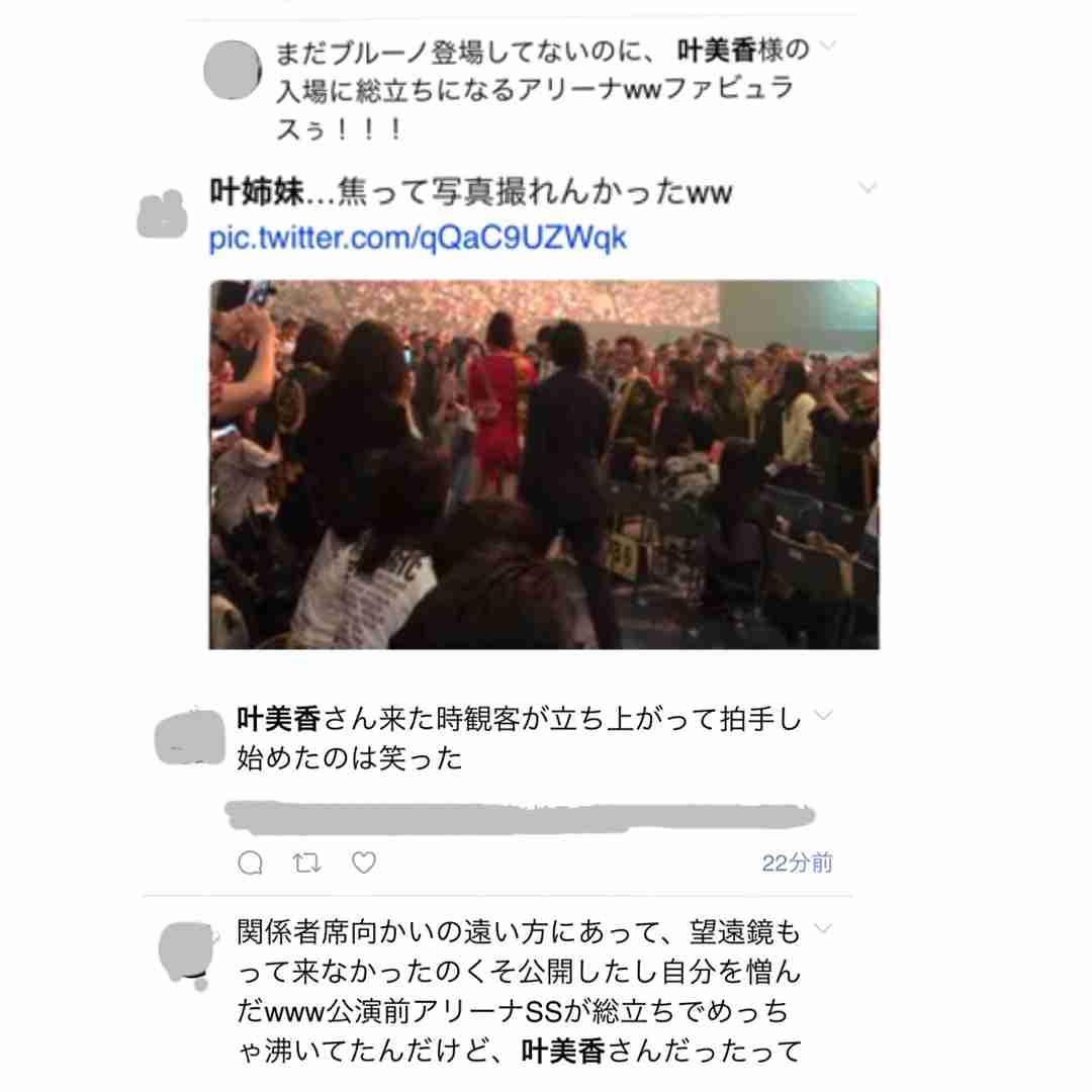 叶美香、ブルーノ・マーズ日本公演で会場どよめかせる 観客が総立ちに