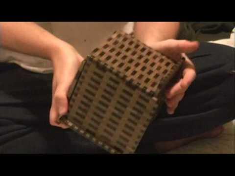 SUPER CUBI 324-STEP JAPANESE PUZZLE BOX YOSEGI MUKU (R-4) - YouTube