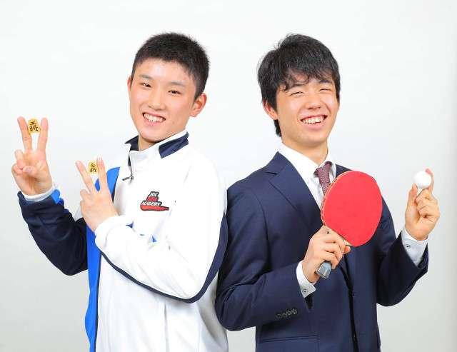 天才中学生、藤井聡太四段と張本智和が対談! 「五輪で金メダル」「将棋界のトップに」 : スポーツ報知