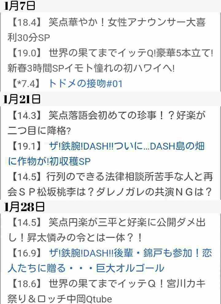 【実況・感想】DASHでイッテQ!行列のできるしゃべくり 日テレ系人気番組No.1決定戦 2018年春