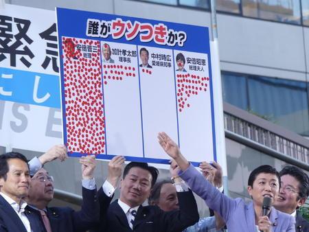 野党、誰が嘘つきアンケート 首相と昭恵夫人が独占(日刊スポーツ) - Yahoo!ニュース