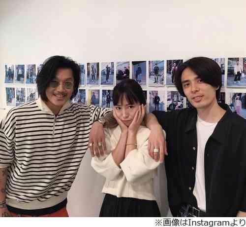 小森純、元カレ&ダンナとスリーショット