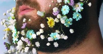 おヒゲに花を咲かせましょう!? 海外のインスタ男子の間でヒゲに花を飾る「#flowerbeard」が大人気です | Pouch[ポーチ]