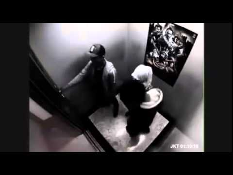 The girl knockout 2 men in the elevator - YouTube