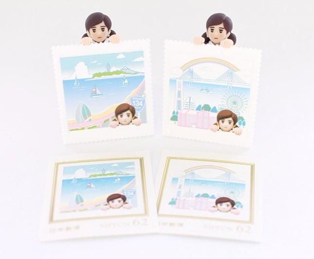 「コップのフチ子」と郵便局が初コラボ 「横浜」「湘南」切手のセット