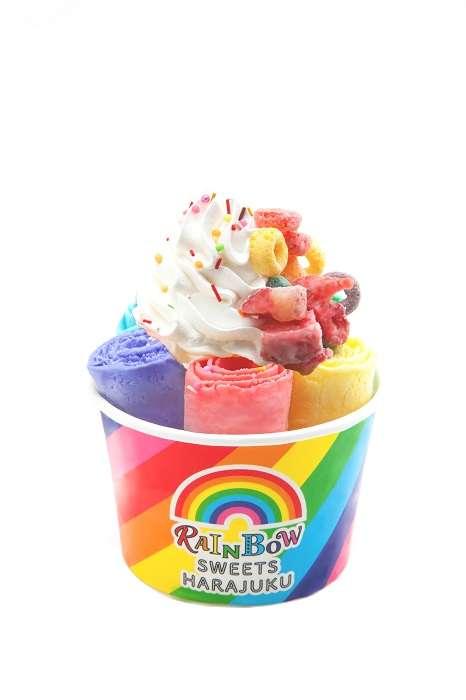 虹色のアイスやわたあめ! レインボースイーツ専門店が原宿竹下通りにオープン