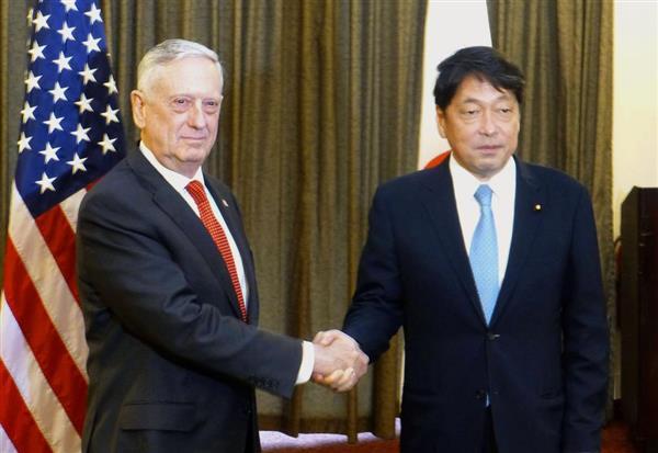 小野寺五典防衛相がマティス国防長官と会談「米朝会談は核、ミサイル、拉致問題が前進する機会に」 在韓米軍の重要性でも一致 - 産経ニュース