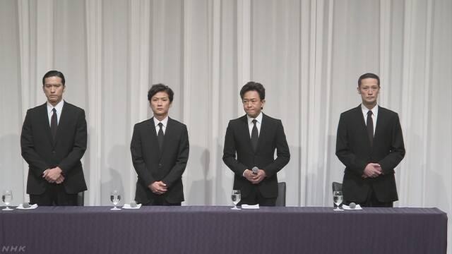 TOKIOの4人謝罪 山口さんから辞表 処遇決まらず | NHKニュース
