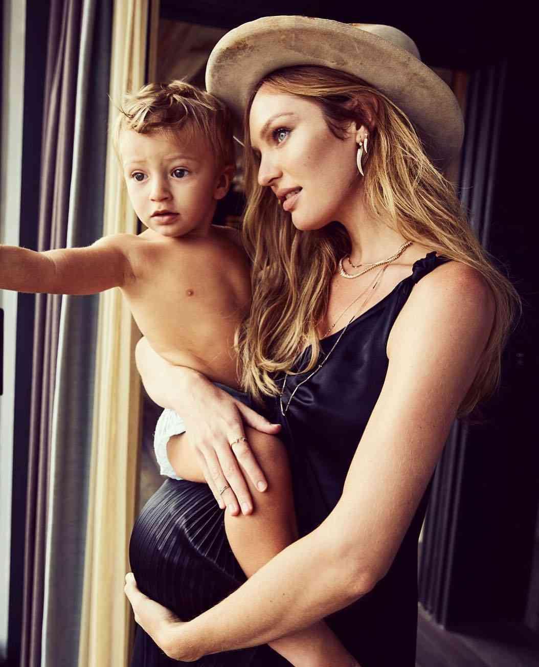 キャンディス・スワンポール、次男誕生まもなく 巨大なお腹の写真を公開