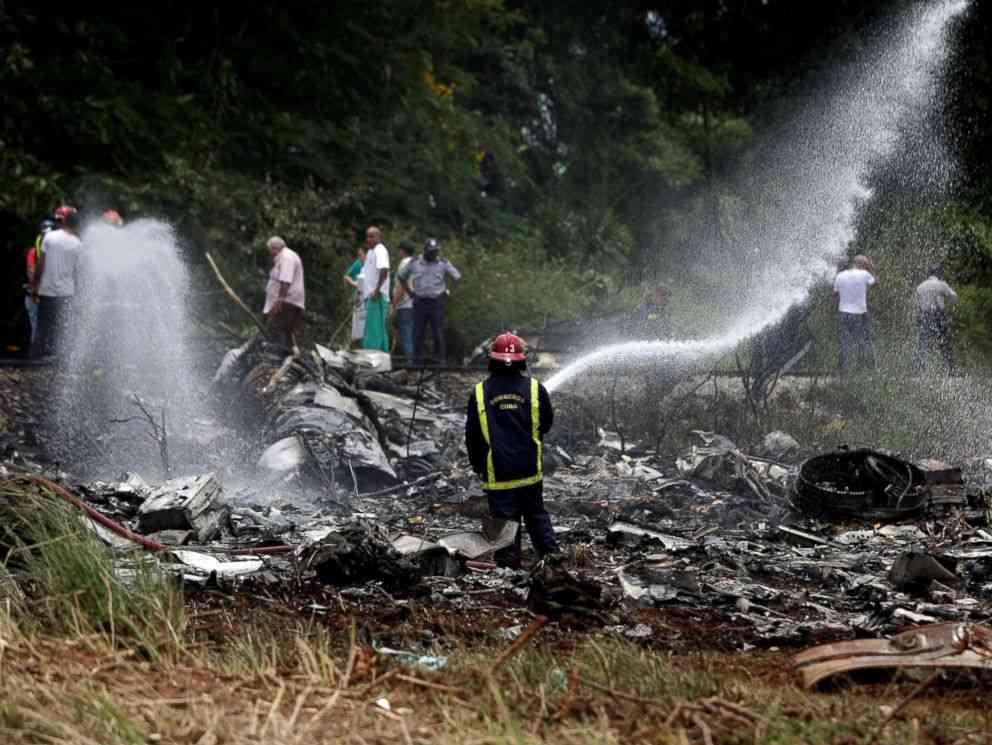 キューバ機墜落 100人以上が死亡報道 79年製の機体