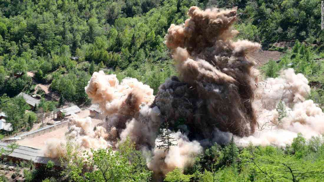 CNN.co.jp : 北朝鮮、核実験場の坑道3カ所を爆破 北部・豊渓里