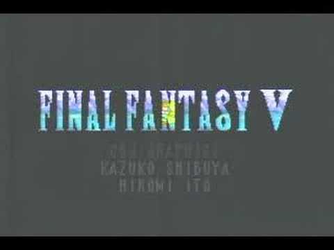 ファイナルファンタジー5 FINAL FANTASY 5 オープニング - YouTube