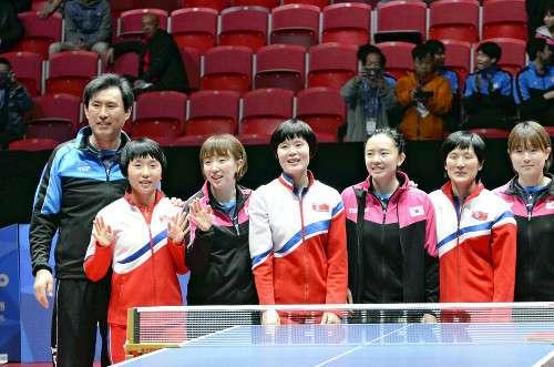 世界卓球で南北、合同チーム結成…日本と準決勝 : スポーツ : 読売新聞(YOMIURI ONLINE)