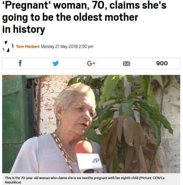 【海外発!Breaking News】70歳で第8子を妊娠中 メキシコの女性、高齢者出産で世界記録となるか   Techinsight(テックインサイト) 海外セレブ、国内エンタメのオンリーワンをお届けするニュースサイト