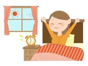 早寝早起き、規則正しい生活をしている方