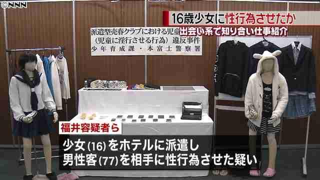 16歳少女に77歳客相手に性行為させたか 風俗店経営者らを逮捕