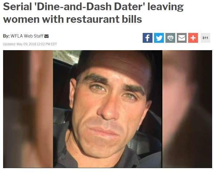 出会い系で知り合った女性とレストランへ 3年間「食い逃げ」を続ける超セコい男(米)