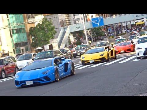 【東京】スーパーカー目撃 加速サウンド!/Supercars in Tokyo. AvantadorSV, Huracan, SpecialeA, BAC MONO and more! - YouTube