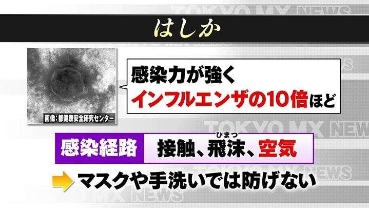 はしかに注意! 2回の予防接種を 東京でも感染者 TOKYO MX+