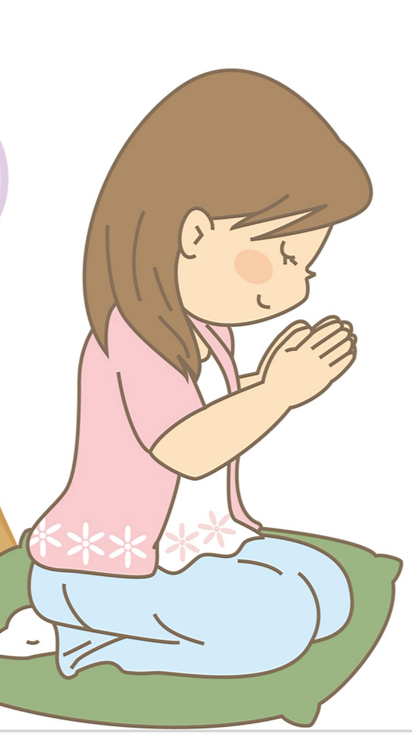 お仏壇にお焼香したりお墓参りのときに、手を合わせて何を話していますか?