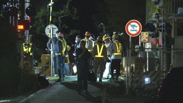 踏切内で車いす立往生したか 特急にはねられ女性死亡 山梨 | NHKニュース