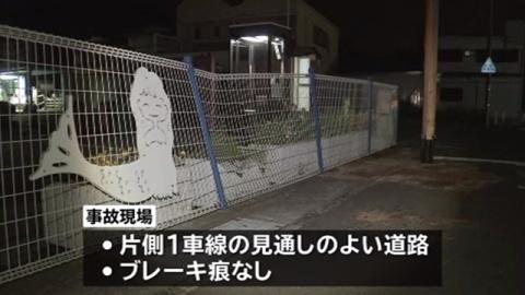軽が標識柱に衝突、小1女児死亡…兄と父親重傷