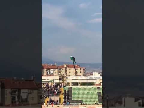 Man Banned From Stadium Watches Game From Boom Lift - 988682 - YouTube