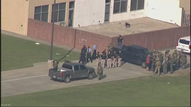 米テキサス州の高校で銃撃 10人死亡10人けが 容疑者拘束