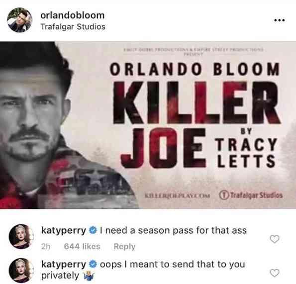 ケイティ・ペリー、恋人オーランド・ブルームへの「下ネタ」メールを誤って公開