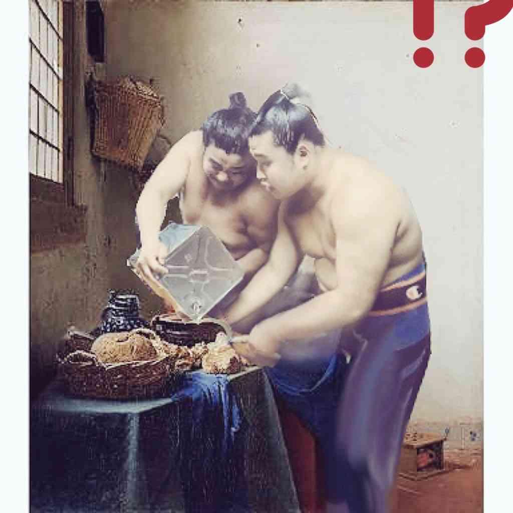まるで絵画(笑)ある力士がツイートした「油を注ぐ力士」がフェルメールすぎると話題に