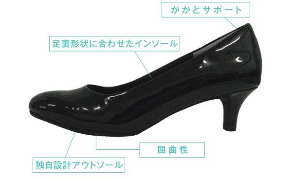 【疲れない】ローヒールの仕事靴【健康第一】