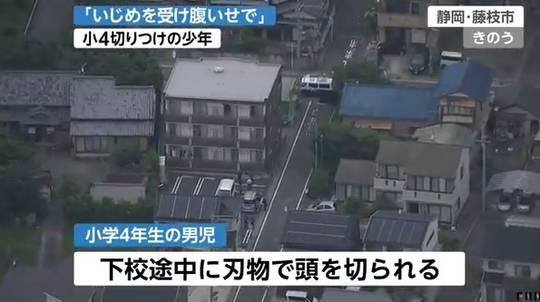 藤枝小4切りつけ 「いじめの復讐」 18歳容疑者説明