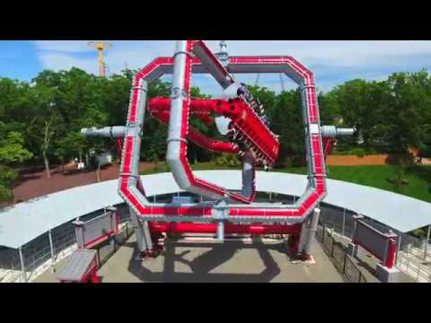 CYBORG Cyber Spin at Six Flags Great Adventure - YouTube