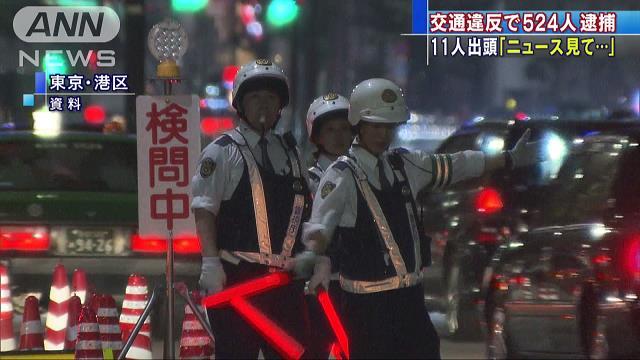 出頭要請に応じず反則金未納 交通違反者524人逮捕