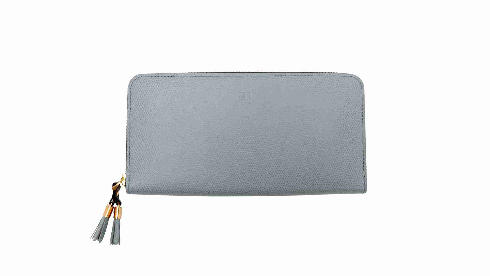 シキ ラウンドファスナー長財布 うすはな|上質な革素材を用いたレディース財布・小物(Epoi)