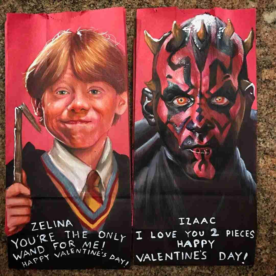 とうちゃんすげえ!子供たちのランチ用の紙袋に超絶すごい絵を毎回描き続けている
