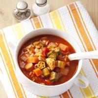 ガンボスープ | マンナンヒカリ・レシピ | マンナンヒカリ