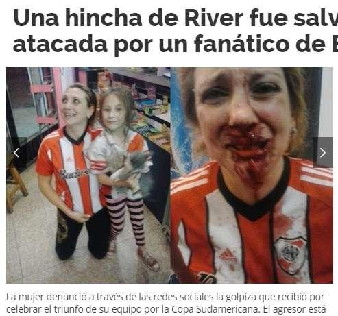フーリガンが女性に激しい暴力。目の当たりにした8歳娘がトラウマに。(アルゼンチン)(2014年12月6日) - エキサイトニュース(1/2)