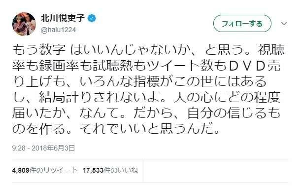 「もう、数字はいいんじゃないか」 「半分、青い。」北川悦吏子、視聴率に問題提起 : J-CASTニュース