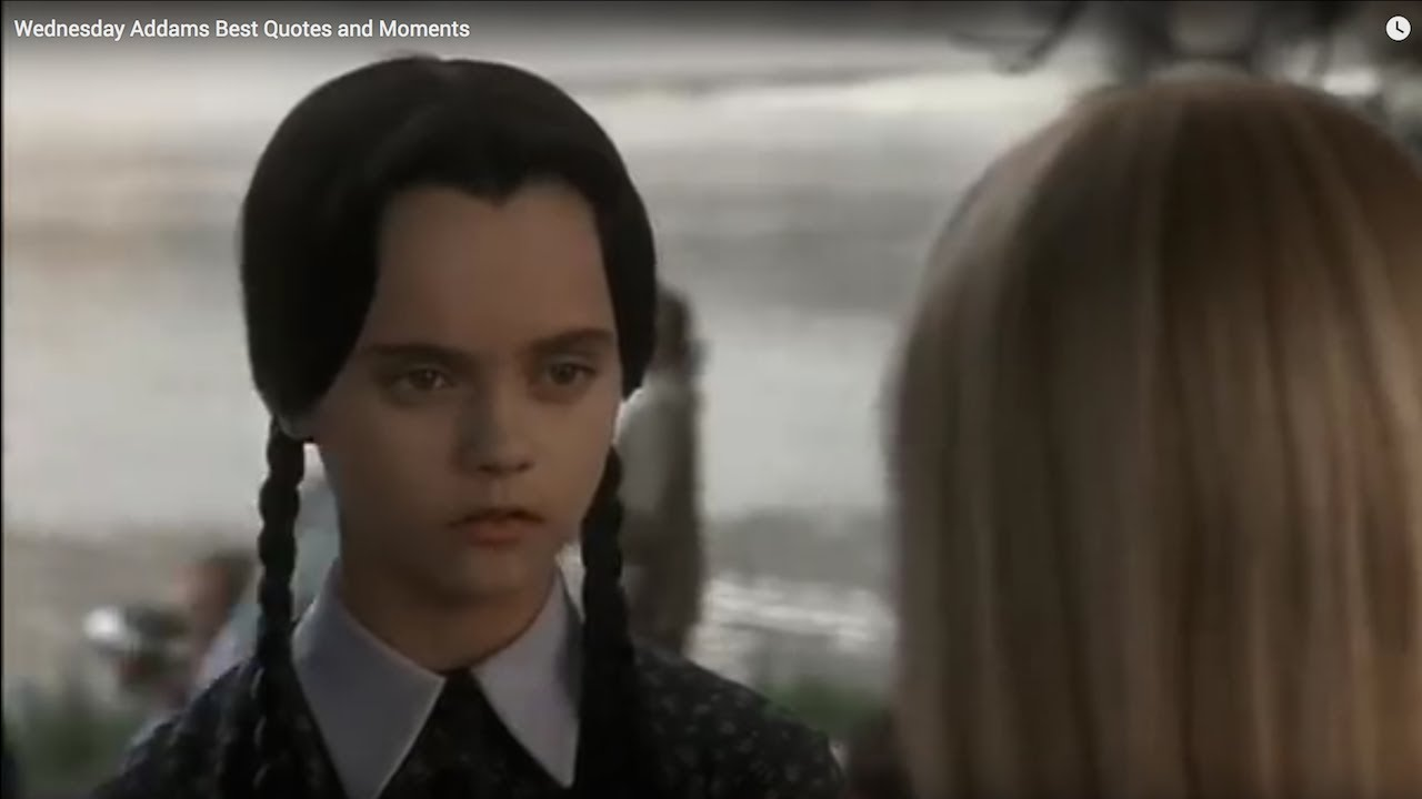 Wednesday Addams Best Quotes and Moments - YouTube