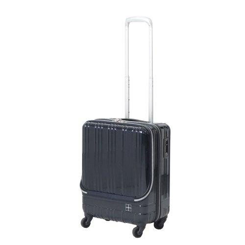 hands+ ライトスーツケース フロントオープンタイプ 38L ミッドナイトブルー【メーカー直送品】お届けまで約1週間~10日間 【東急ハンズネットストア】