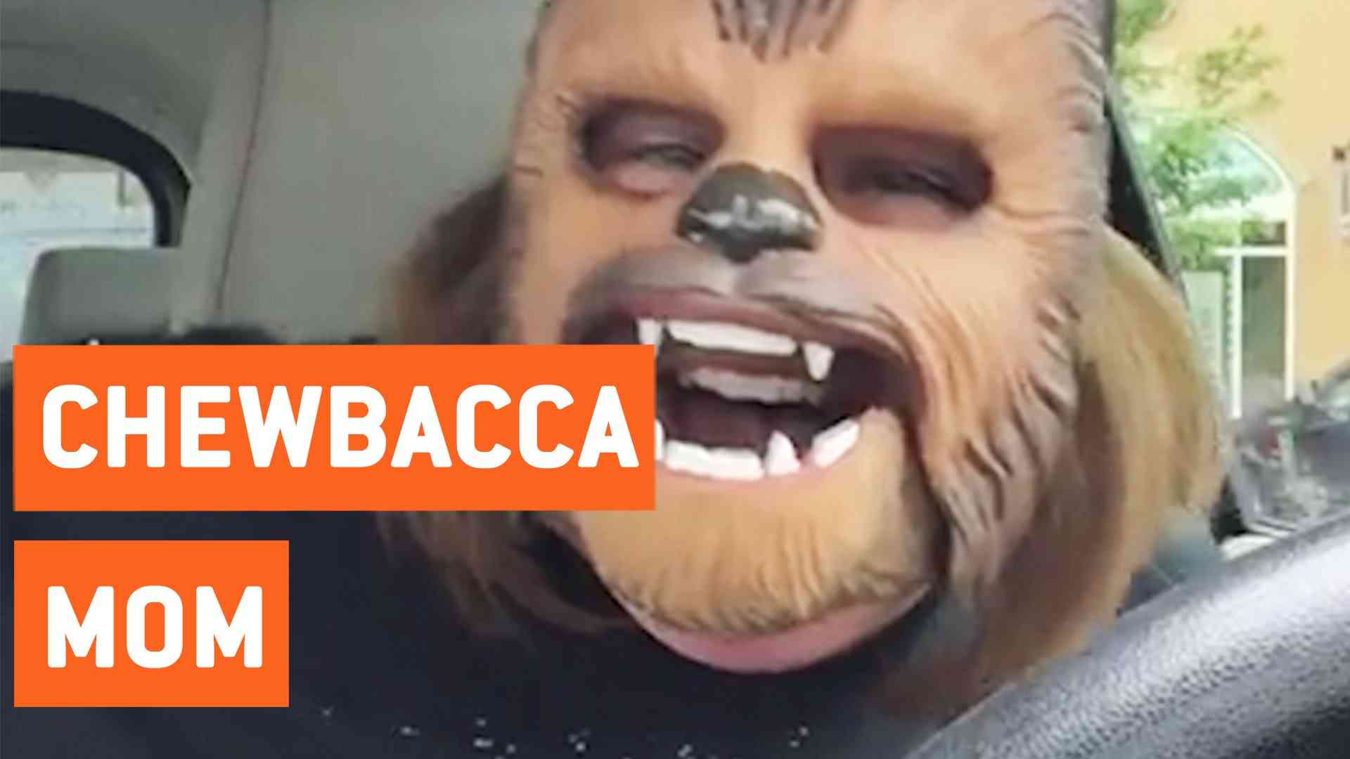 Mom Laughing At Chewbacca Mask For Birthday - YouTube