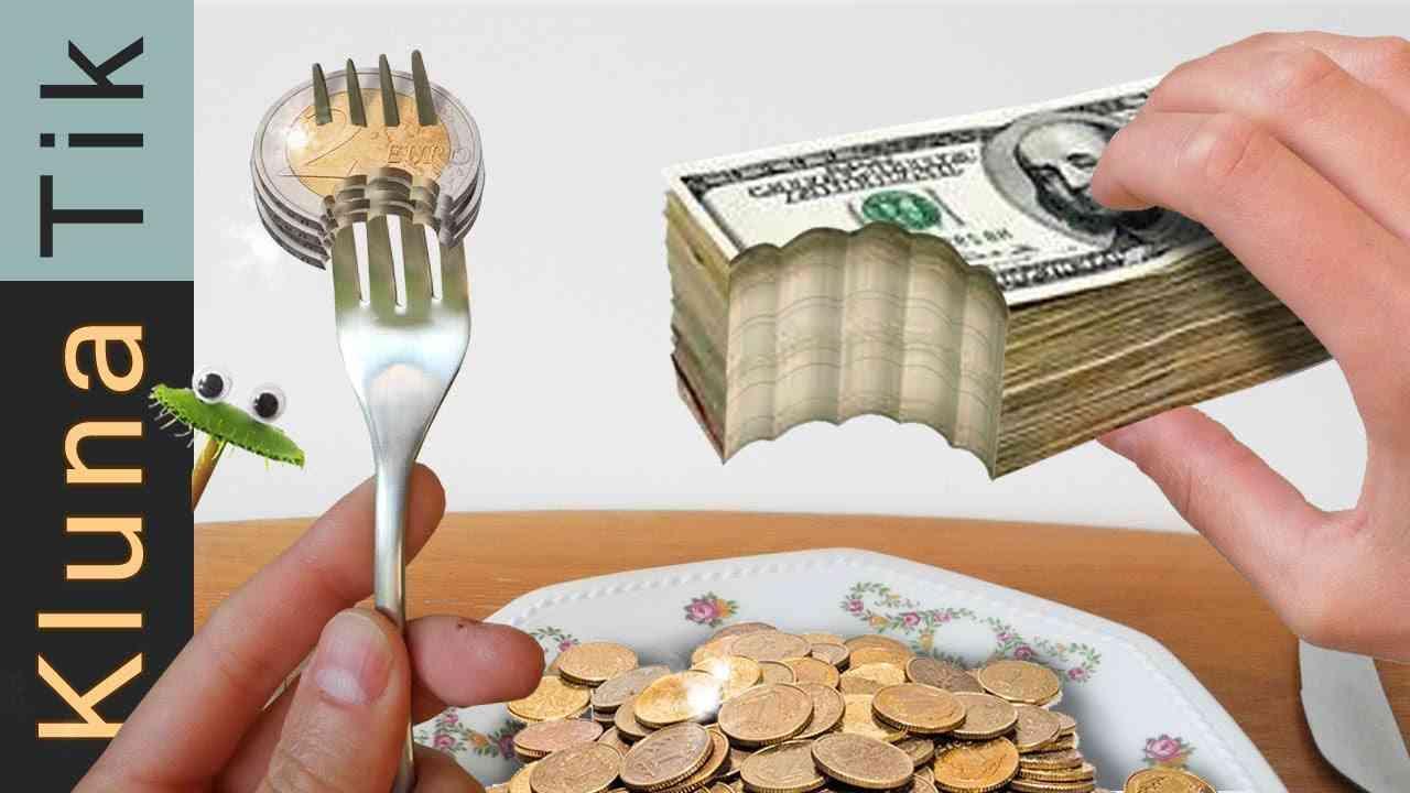 EATING MONEY!! | KLUNATIK ASMR eating sounds no talk comiendo dinero, 吃錢, есть деньги - YouTube